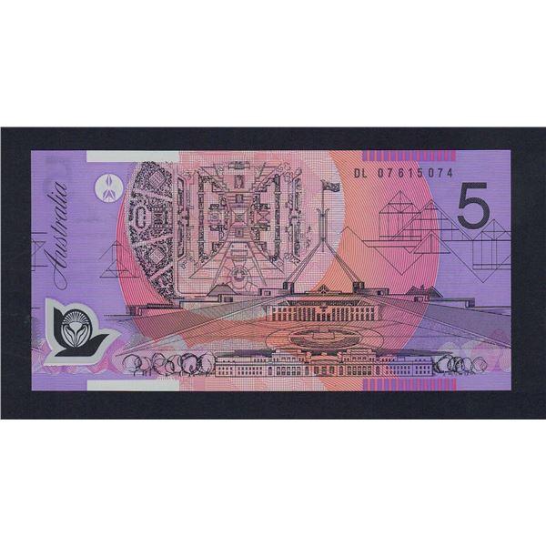 AUSTRALIA $5. 2007. Stevens-Henry. 1ST DATE FOR NEW SIGNATURE