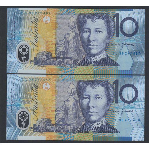 AUSTRALIA $10. 1998. Macfarlane-Evans. CONSECUTIVE PAIR