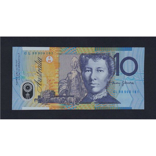 "AUSTRALIA $10. 1998. Macfarlane-Evans. LAST PREFIX ""GL98"""