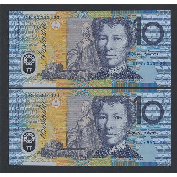 AUSTRALIA $10. 2002. Macfarlane-Henry. CONSECUTIVE PAIR