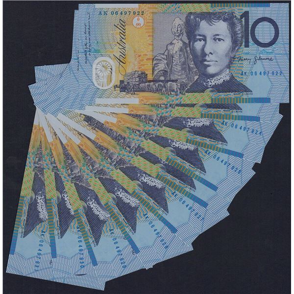 AUSTRALIA $10. 2006. Macfarlane-Henry. CONSECUTIVE RUN OF 10