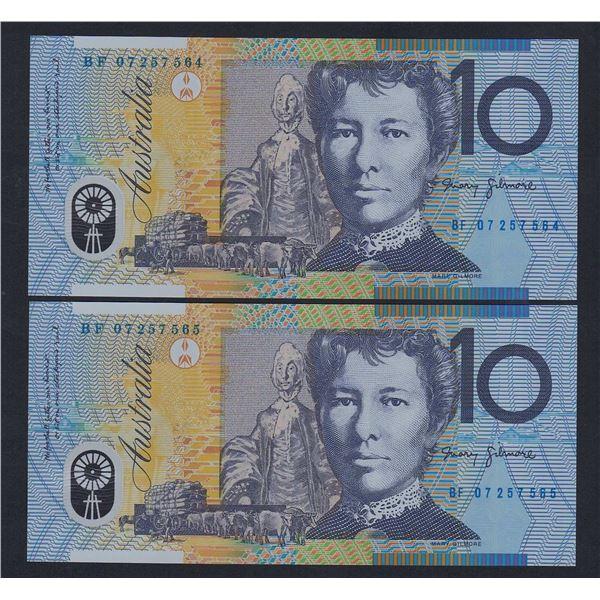 AUSTRALIA $10. 2007. Stevens-Henry. CONSECUTIVE PAIR