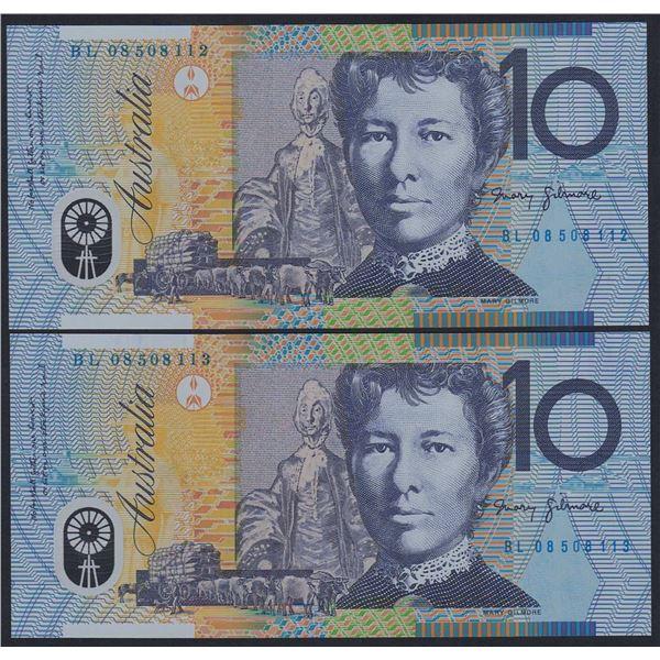 AUSTRALIA $10. 2008. Stevens-Henry. CONSECUTIVE PAIR