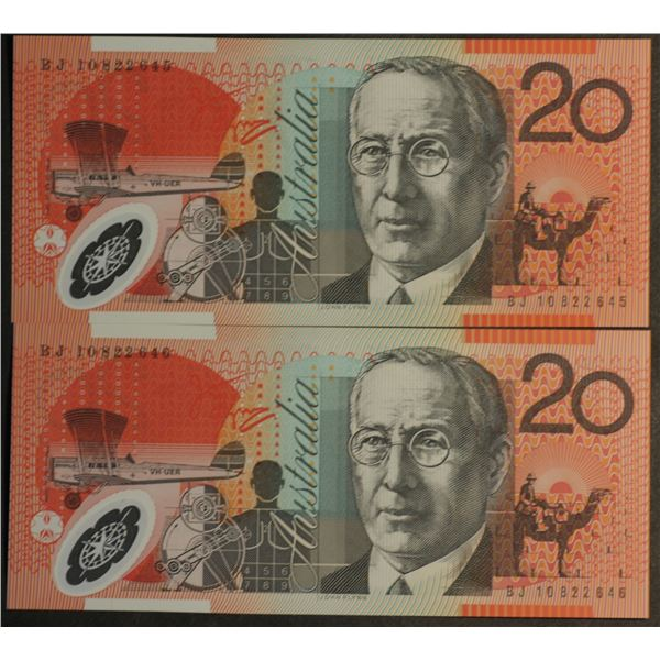 AUSTRALIA $20. 2010. Stevens-Henry. CONSECUTIVE PAIR