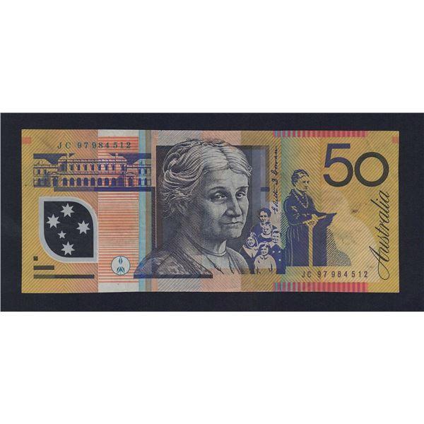 """AUSTRALIA $50. 1997. Macfarlane-Evans. SCARCE LAST PREFIX """"JC97"""""""