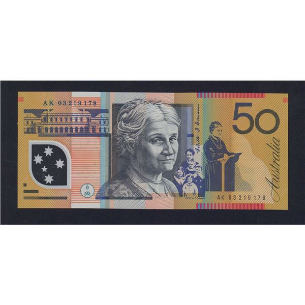 AUSTRALIA $50. 2003. Macfarlane-Henry. 1ST DATE FOR SIGNATURE