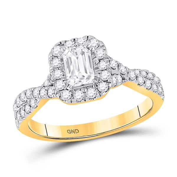 Solitaire Bridal Wedding Engagement Ring 1 Cttw 14KT Yellow Gold