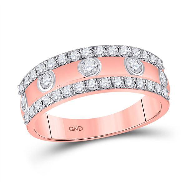 Round Diamond Anniversary Ring 3/4 Cttw 10KT Rose Gold