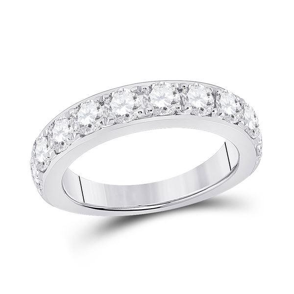 Round Diamond Single Row Band Ring 1-3/4 Cttw 14KT White Gold
