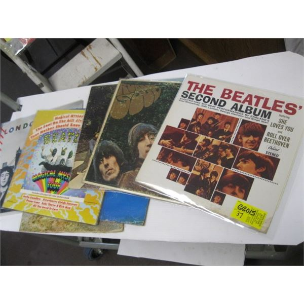 LOT OF 7 RECORDS, ALL BEATLE RELATED