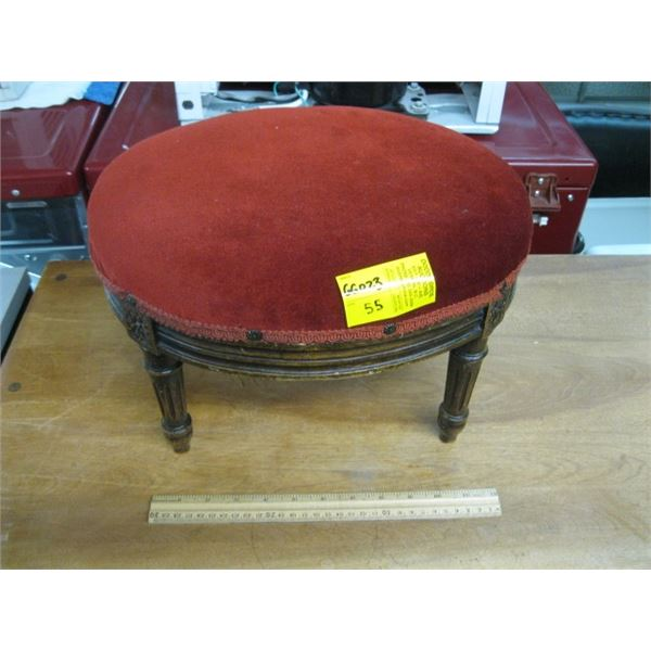SMALL ANTIQUE OVAL STOOL