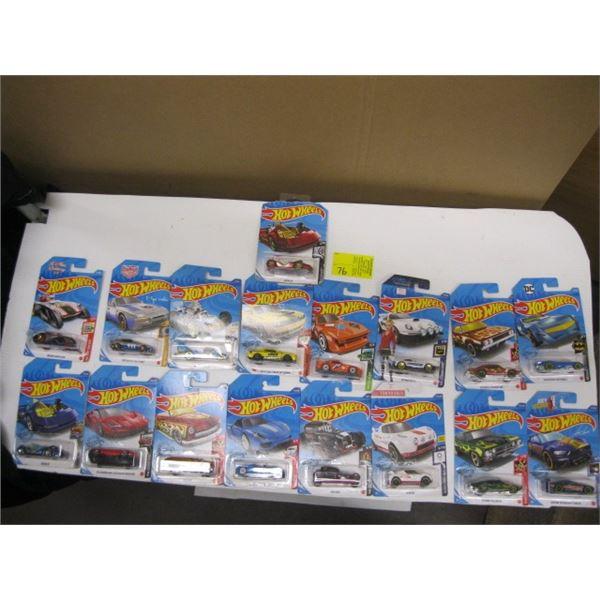 BOX OF 17 HOTWHEELS CARS