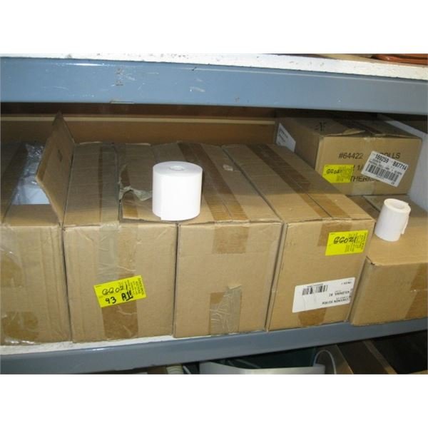 7 BOXES OF ASST. ADDING MACHINE TAPE & THERMO ROLLS