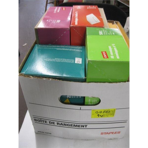 BOX OF ASST. ENVELOPES, LG & SMALL