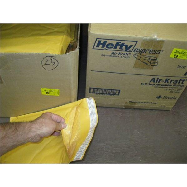 2 BOXES OF ASST. PADDED ENVELOPES, DUOTANGS, ETC.