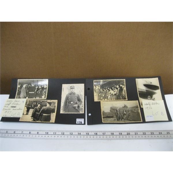 6 PHOTOGRAPHS OF HITLER, MUSSOLINI, ETC.