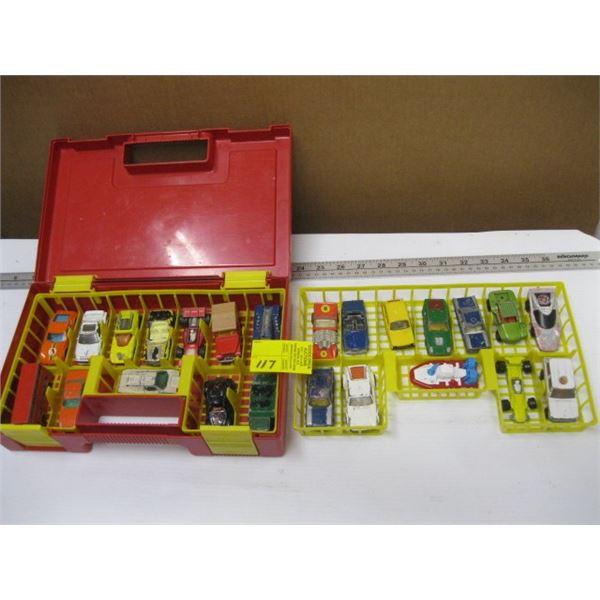 CASED SET OF MATCHBOX CARS