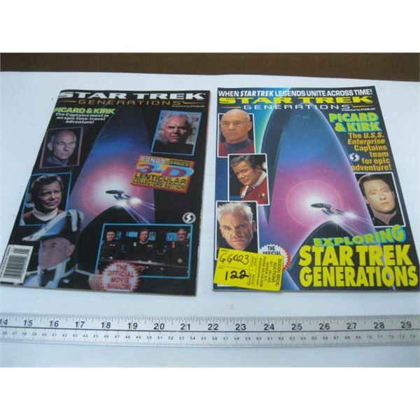 PAIR OF STAR TREK MAGAZINES