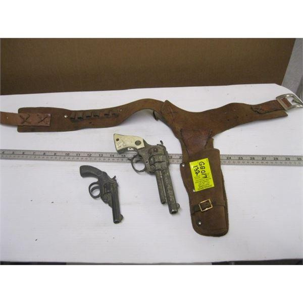 2 SMALL CAP GUNS & THE HOLSTER