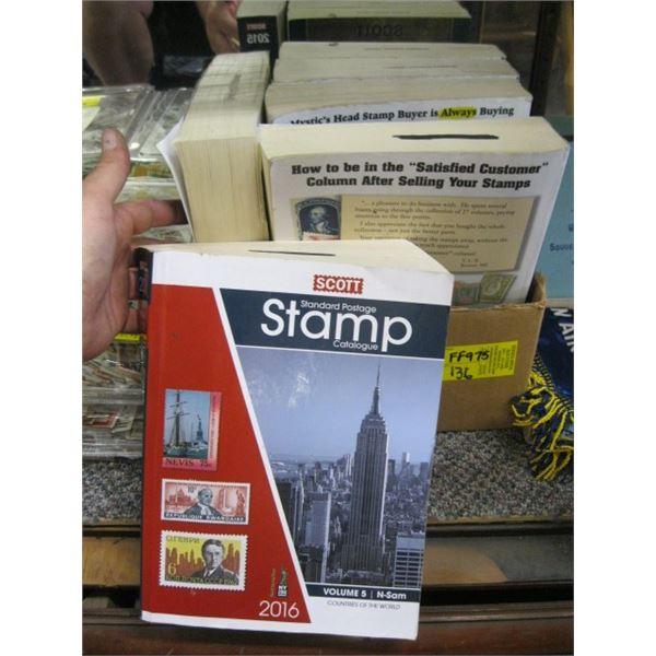 BOX OF STAMP BOOKS
