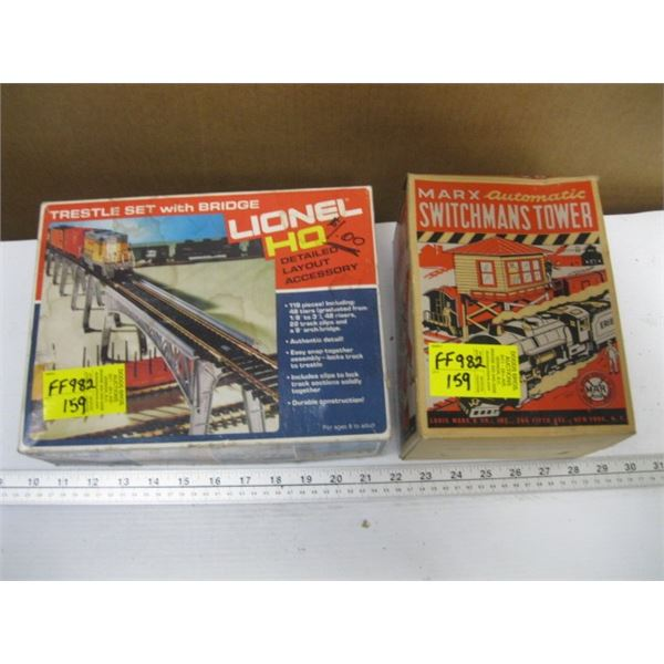LIONEL TRESSEL SET WITH BRIDGE & A SWITCHMAN'S TOWER