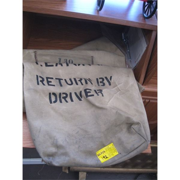 LG. CANVAS BAG PROPERTY OF THE T. EATON COMPANY, RETURN BY DRIVER