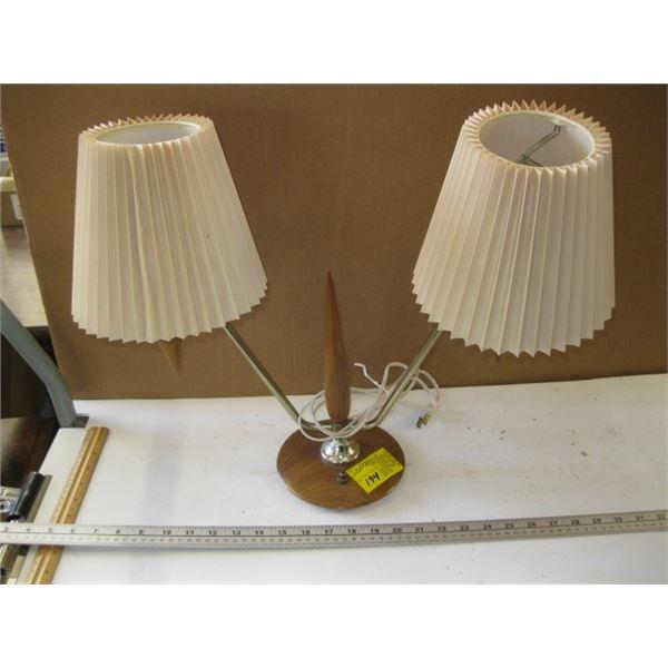UNIQUE TEAK BULLET TYPE DOUBLE LAMP