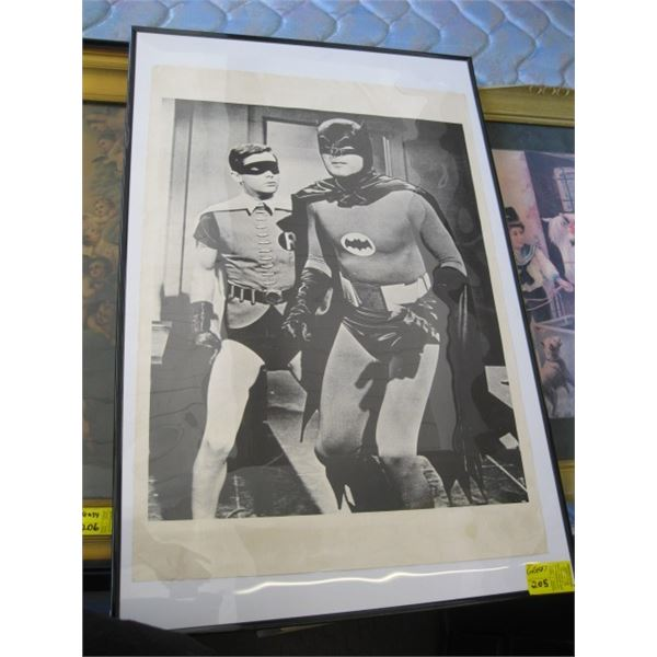 FRAMED BATMAN & ROBIN POSTER