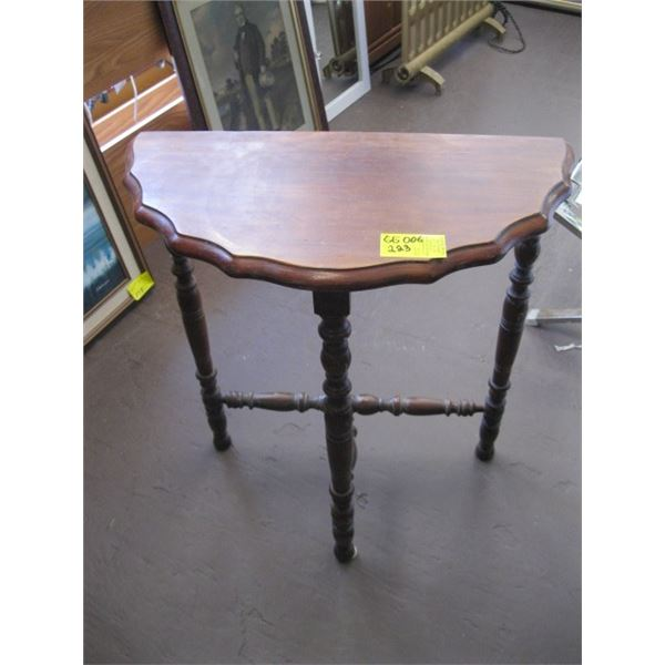 HALF MOON ANTIQUE OCCASIONAL TABLE