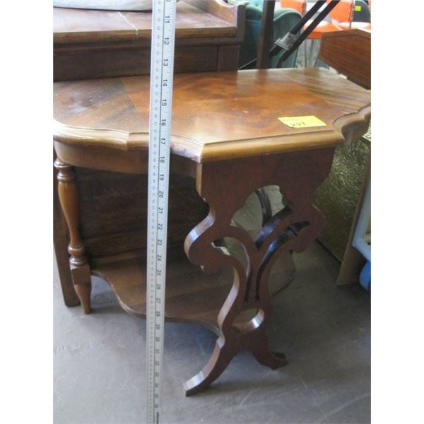 """ANTIQUE HALF MOON OCCASIONAL TABLE (22 1/2"""" H)"""