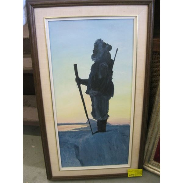 ORIGINAL PAINTING OF THE INUIT BY C. ANDERSON