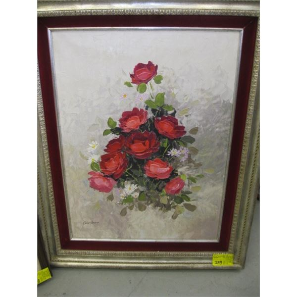 ORIGINAL OIL PAINTING OF THE ROSES BY ANOSTOCIO?