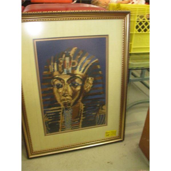 FRAMED NEEDLEPOINT THE EGYPTIAN MAN