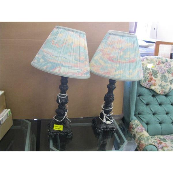 PAIR OF CERAMIC BASED LAMPS