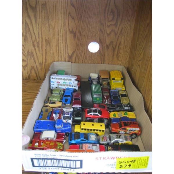 BOX OF ASST. HOTWHEELS & MISC. CARS