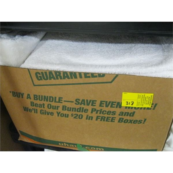 BOX OF WHITE TOWELS