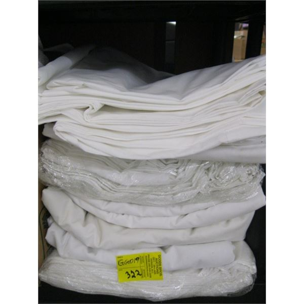 LOT OF FLAT WHITE SHEETS