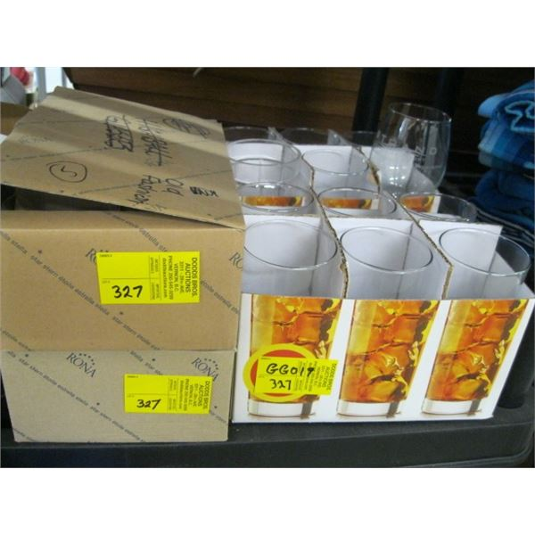 4 BOXES OF ASST. GLASSWARE
