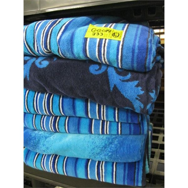 6 BEACH TOWELS