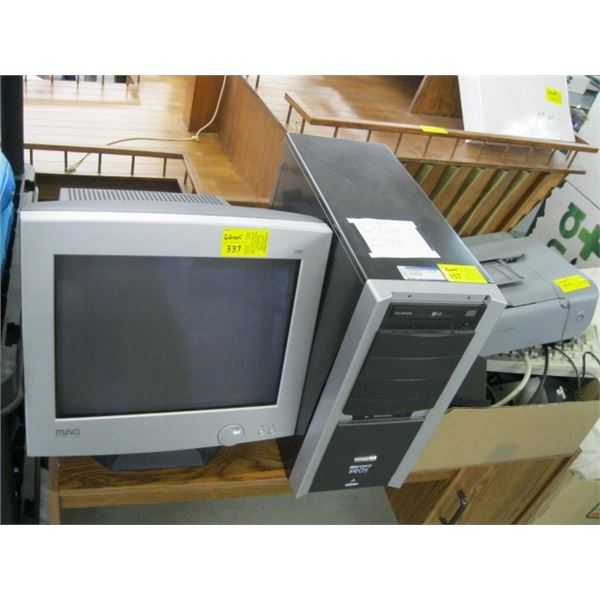 COMPUTER SYSTEM WITH MICROSOFT WINDOWS XP HOME EDITION, 512 MG RAM, 80 GB HARDDRIVE, COMES WITH PRIN
