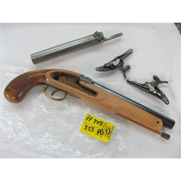 BAG WITH ASST. AS IS BLACK POWDER GUN PARTS