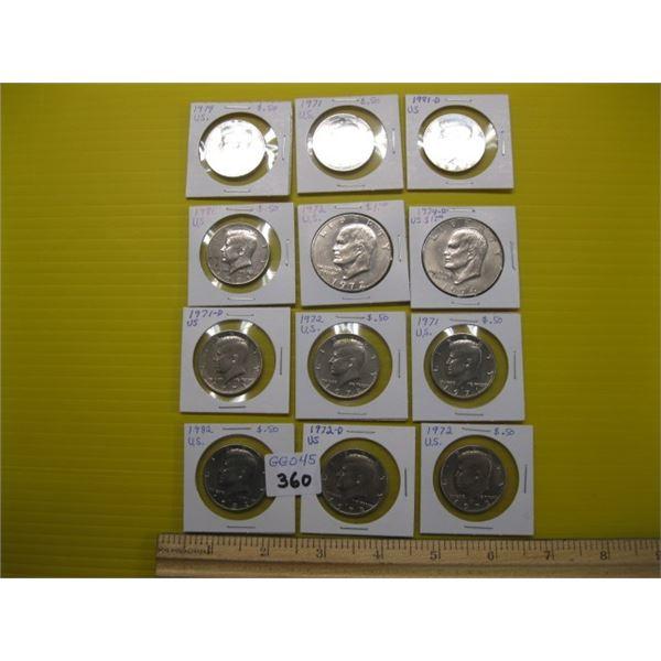 ASST. AMERICAN 50 CENT & ONE DOLLAR COINS