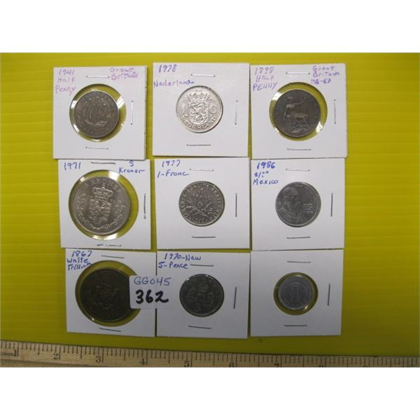LOT OF FOREIGN COINS