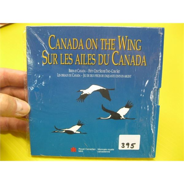 BIRDS OF CANADA ON A WING 50 CENT SILVER 2 COIN SET