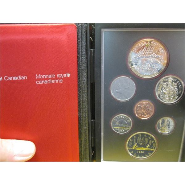 1980 CANADIAN COIN SET, THE DOUBLE DOLLARS