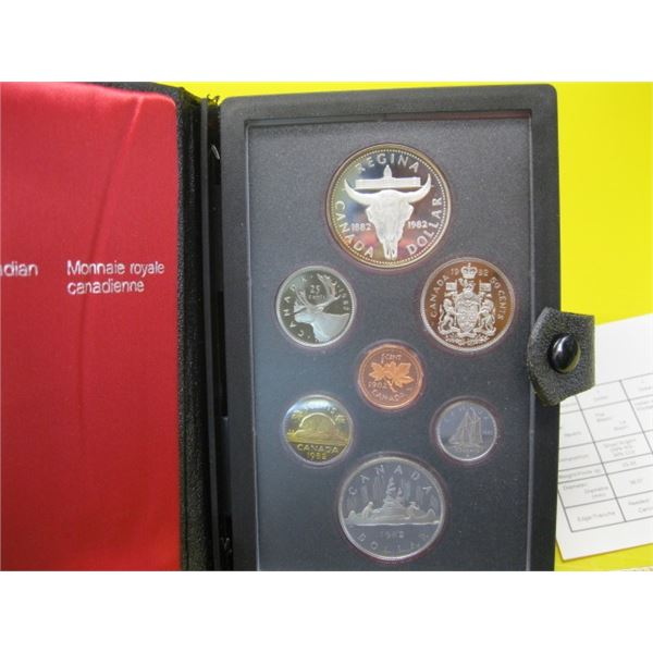 1982 CANADIAN COIN SET, THE DOUBLE DOLLARS