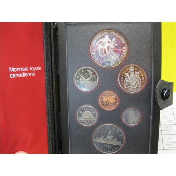 1983 CANADIAN COIN SET, THE DOUBLE DOLLARS