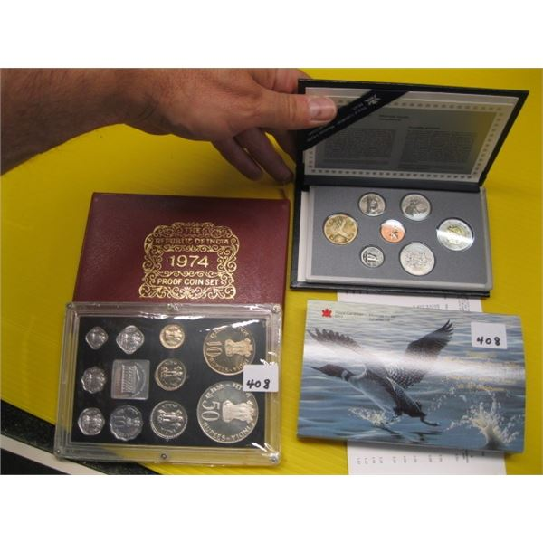 1997 ROYAL CANADIAN MINT SPECIMEN SET & A 1974 REPUBLIC OF INDIA PROOF COIN SET