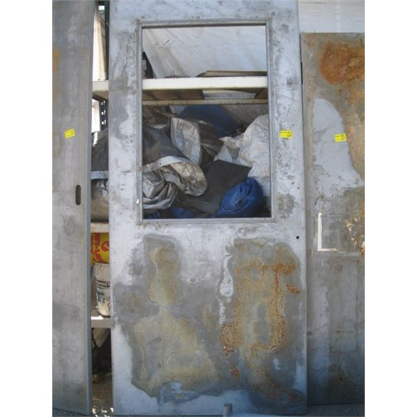 """94.5""""X42 3/4"""" METAL CLAD DOOR WITH WINDOW OPENING"""