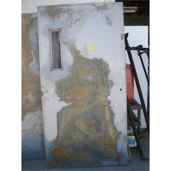 """42 3/4""""X84 1/4"""" METAL CLAD DOOR WITH SMALL WINDOW OPENING"""